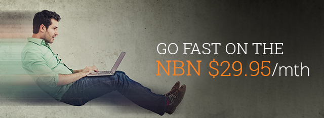 nbn plans from $29.95, go fast on the nbn