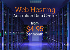 australian web hosting from $4.95 per month